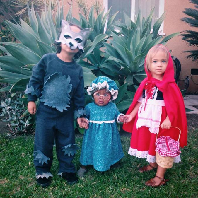 Our California Big Bad Wolf, Granny and Little Red Riding Hood. Kingston, Esme and Raena